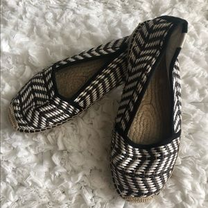 Anthro Soludos Striped Espadrille Loafer Flats